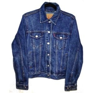 Levis Trucker Jean Jacket Size Large